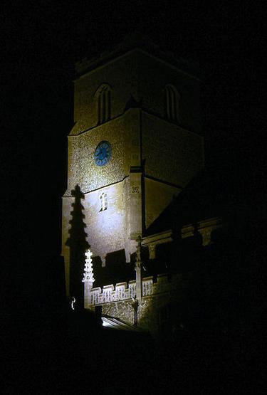 St Martin's at night.
